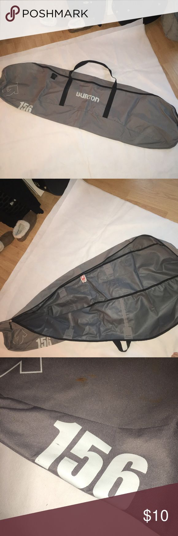 Burton snowboard bag Burton snowboard bag. Couple stains. No strap. Size 156 Burton Bags