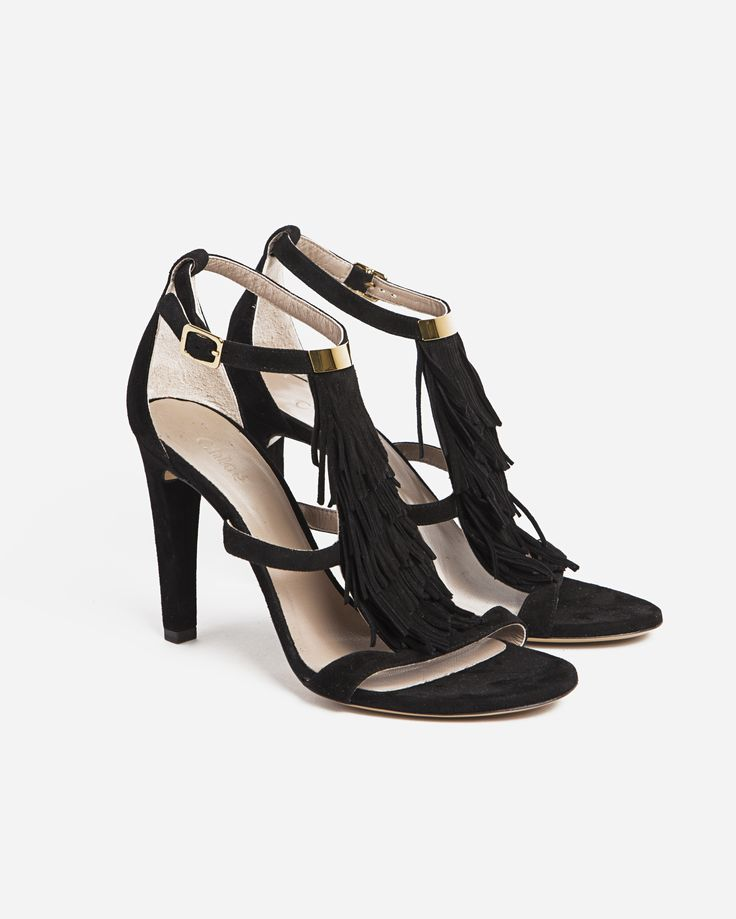 Chloé High Suede Sandal w Tassel Detail