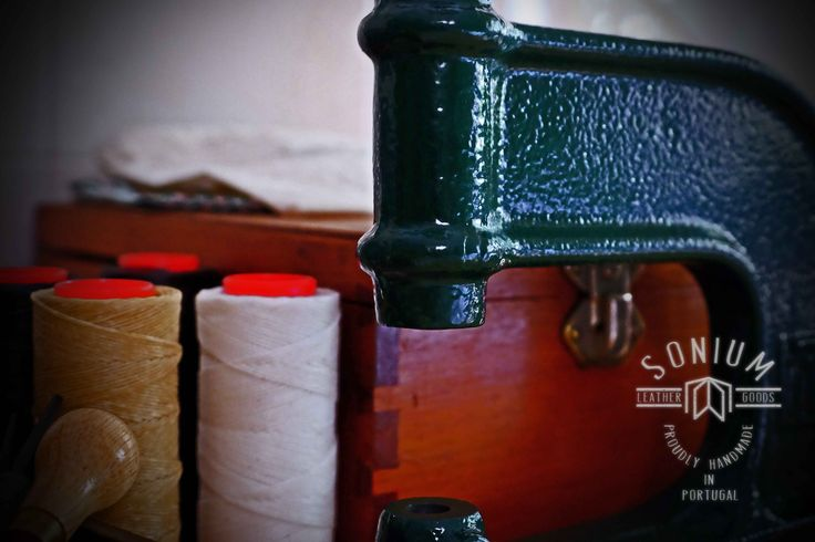 """""""SONIUM LEATHER"""". Without electric machines. Only manual tools to execute our products. Proudly handmade in Portugal."""