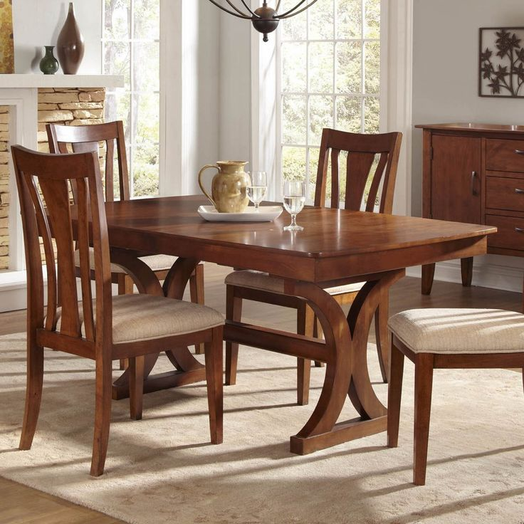 A America Grant Park Trestle Dining Table Aame209