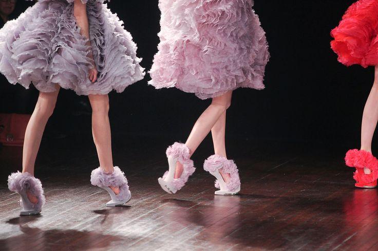 """Heeless"" shoes by Alexander Mcqueen 2012"