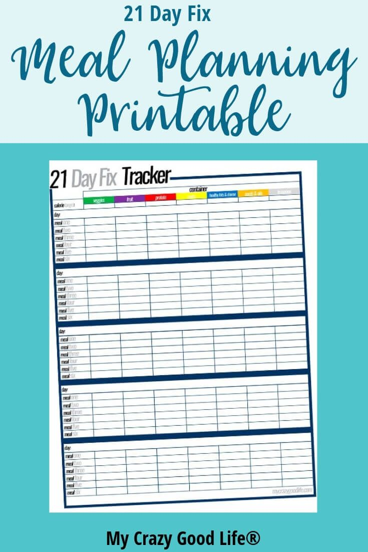 Free Printable 21 Day Fix Meal Planning Sheets Meal Planning Template 21 Day Fix Meal Plan 21 Day Fix Meals