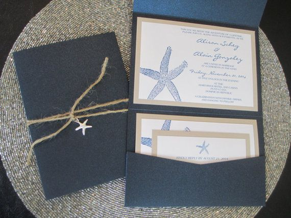Beach Theme Destination Wedding Invitation by PurpleandPlatinum, $5.50