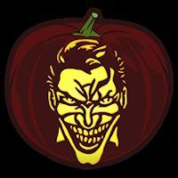 Joker - Pumpkin Stencil