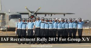 Apply Air Force X & Y Group Recruitment Rally 2017, Airmen Group X & Y Recruitment Rally All India Schedule, IAF Technical/Non-technical Group Jobs forms