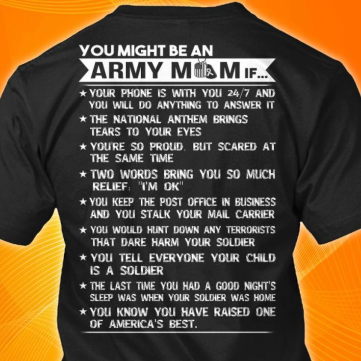 You might be an Army mom if...