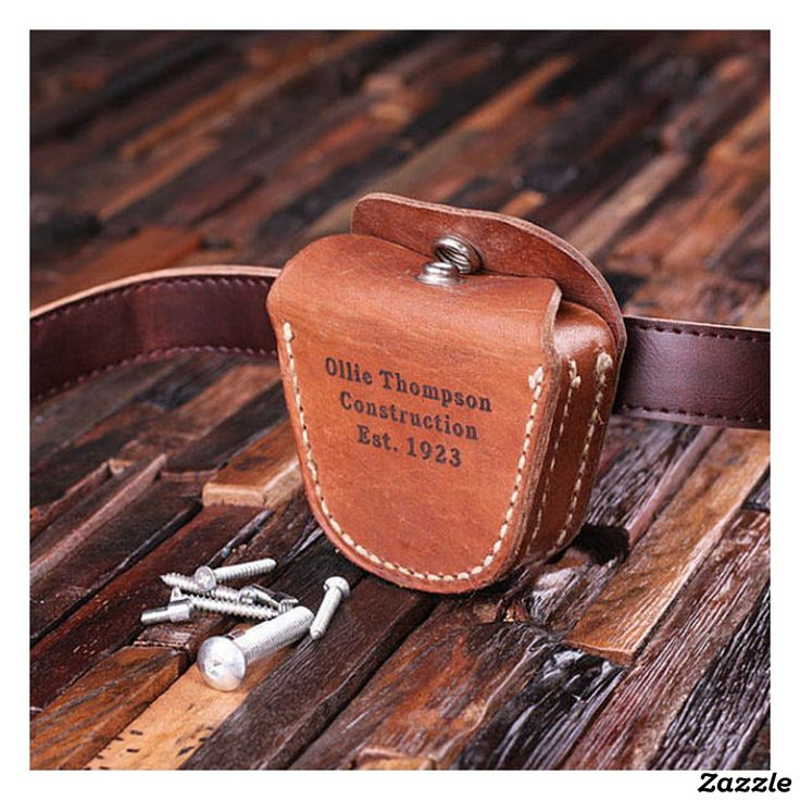 Personalized Engraved Leather Tool Belt Pouch #ad #giftsfordad #giftsforhim #giftsforguys