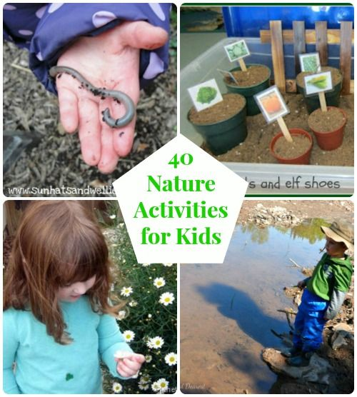 How will you enjoy nature this spring?  Use this list of  great activities that encourage kids to learn, explore & enjoy the season!