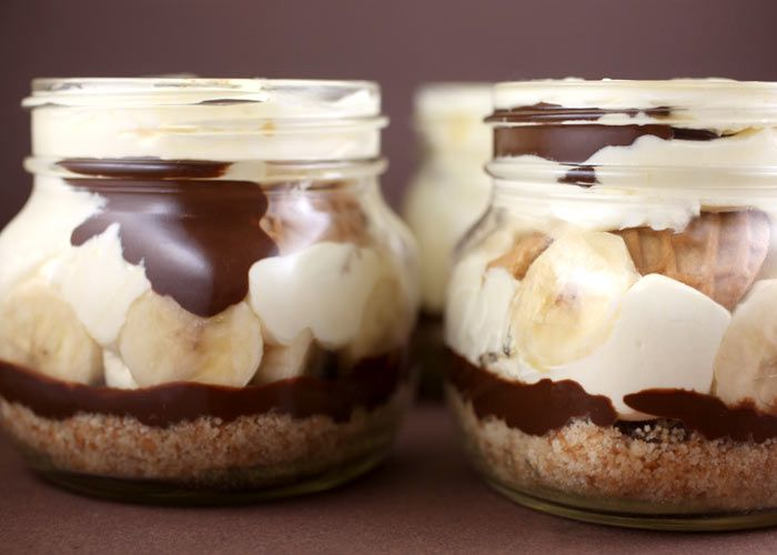 chocolate peanut butter banana pudding