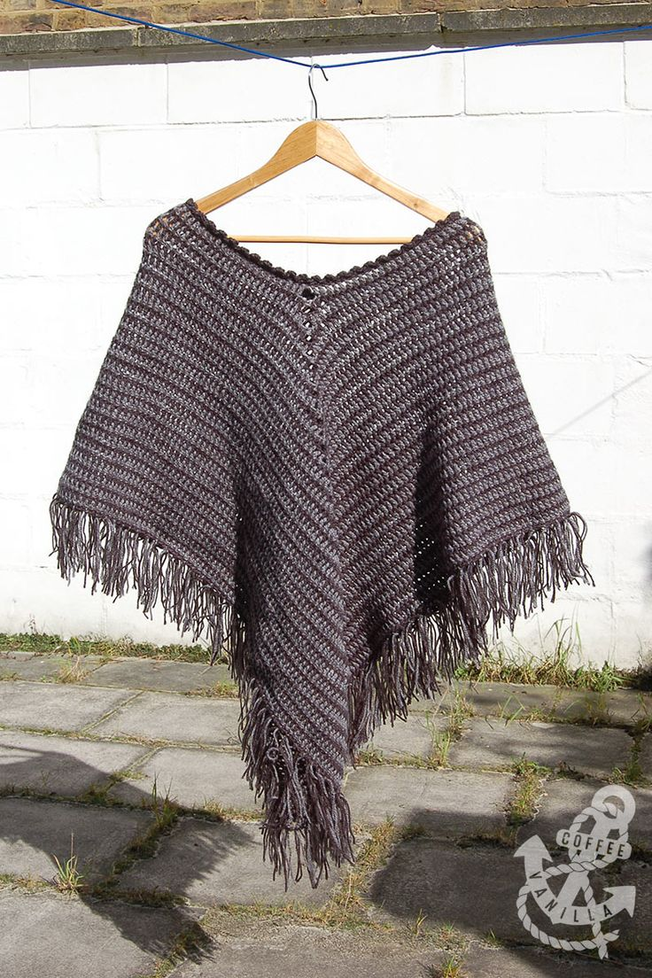 Free Tunisian Crochet Poncho Patterns : 57 best images about Poncho on Pinterest Free pattern ...