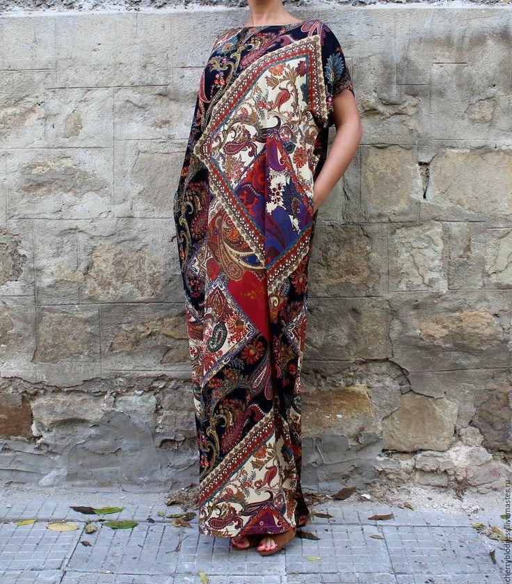 CHERRYBLOSSOMSDRESS Пляжное длинное летнее макси платье, кафтан большие размеры