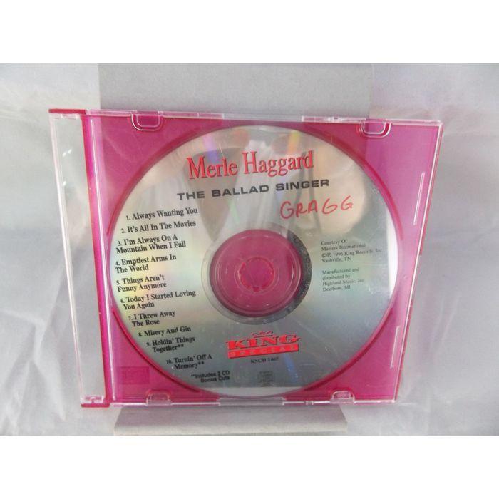 Merle Haggard The Ballad Singer King Special 1996 Country CD  #MerleHaggard #TheBalladSinger #Country #Music #CD #eBid