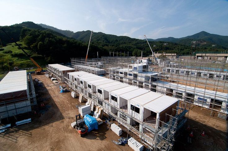 Temporary Container Housing, Onagawa, Miyagi, Japan by http://www.shigerubanarchitects.com following the 2011 earthquake