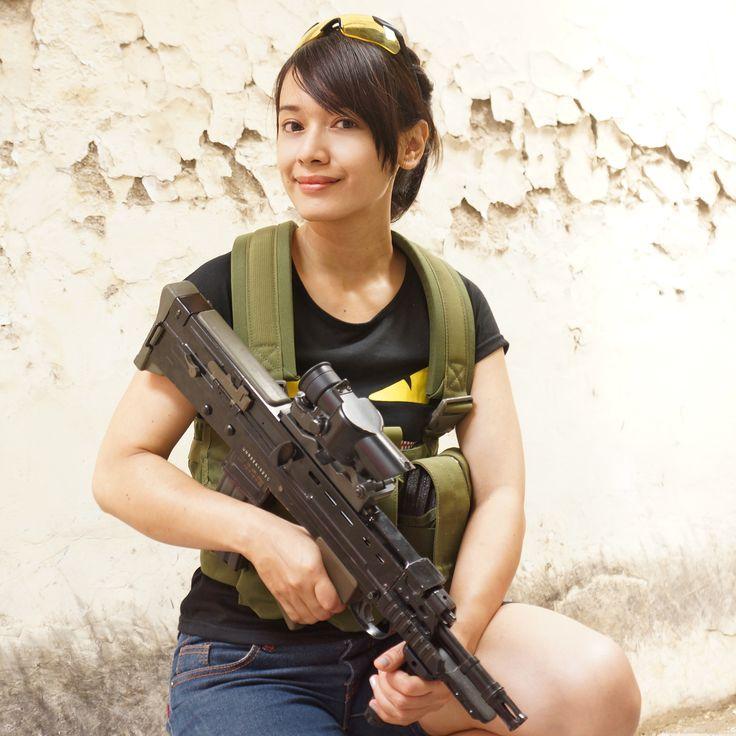 airsoft girl, girls army, army woman, milsim operator, gun & girl, semarang skirmish team, L85 AFV, airsoft international, cosplay girl, kunticamp semarang, icha swan