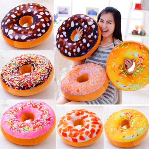 New Doughnut Donut Shaped Ring Plush Soft Novelty Style Cushion Pillow Kids Gift #Unbranded #Donuts
