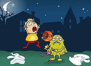 Sorpresa de Halloween... - Tarjetas virtuales gratis de Noche de Brujas Halloween - Correomagico | Mágicas postales animadas gratis