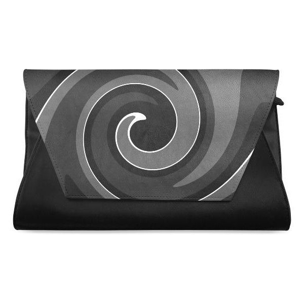 Nora Black White Gray Clutch Bag (Model 1630) ($28) ❤ liked on Polyvore featuring bags, handbags, clutches, black white handbag, black and white purse, black white purse, white and black handbags and grey handbags