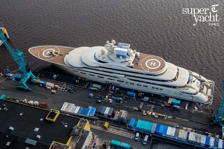 For the first time ever we can share with you these incredible bird's eye view photos of what could possibly be the world's largest yacht by gross tonnage, the 156 metre project Omar. www.bunkerbuoy.com