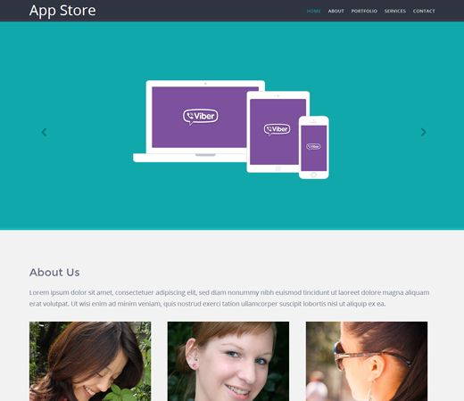 Appstore Responsive Mobile website template by w3layouts - HTML Template