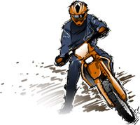 Enduro Dirt Bike Rider Icon for our Hole Shot Award.
