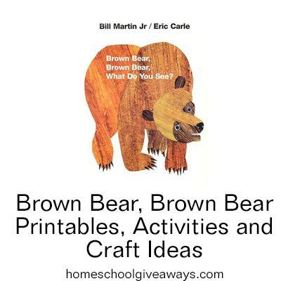 Brown Bear, Brown Bear Printables, Activities, and Craft Ideas   Homeschool Giveaways