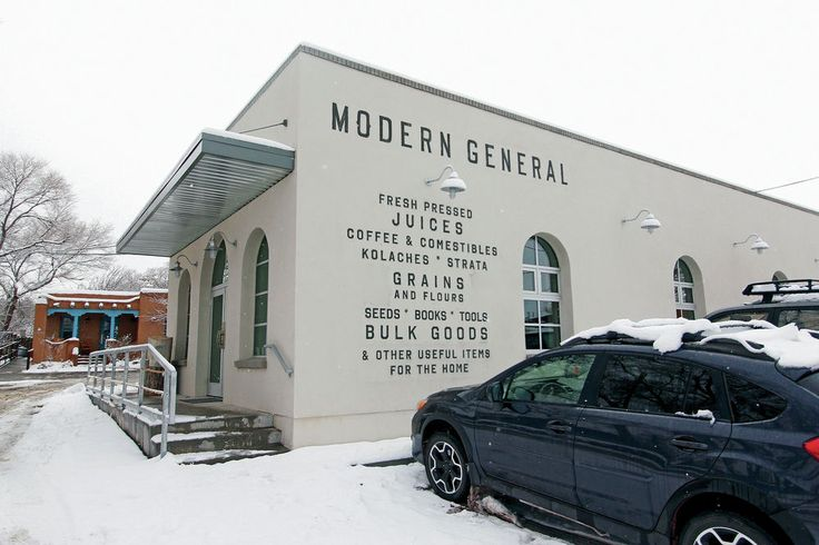 Modern General in New Mexico -- cafe serves Hominy Pho!