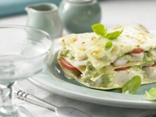 Alaska Seelachs-Lasagne mit Basilikumsauce #fisch # rezepte #fish #recipes #lasagne #lachs #salmon
