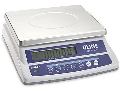 3,000 grams x .1 gram Easy-Count Scale by Uline. $299.00. Uline Easy-Count Scale - No frills counting scale. Simple one-touch weight/count feature. LB/KG/OZ/G convertible. Powered by rechargeable battery or AC adapter. Uline services all scales we sell. Uline stocks a huge selection of Easy-Count Scale.