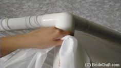 Tips for using indoor drapes and pvc pipes for wedding decor.