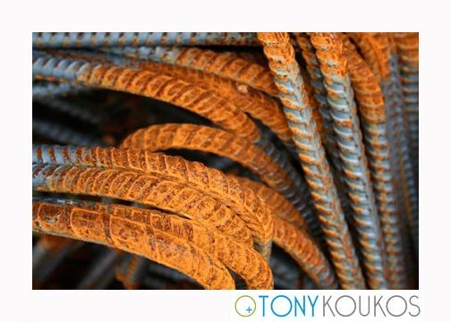 rebar, rods, steel, rust, bent