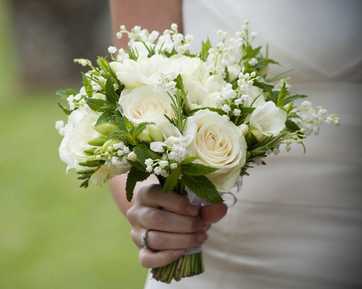 Bouquet - favourite one - I think because of the delicate Lilly of the valley (?)