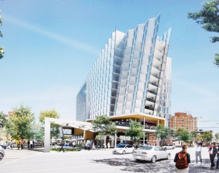 Hyatt Hotel - The north east corner of 96 Street and Jasper Avenue will feature a distinct 13 story hotel with shops and restaurants on the main floor.