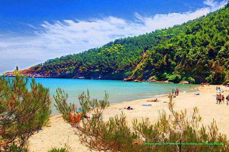 Paradise beach Thassos island Greece