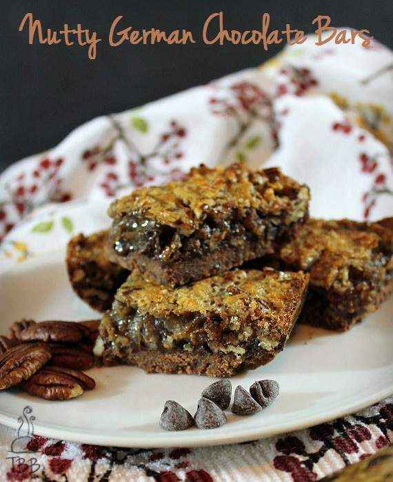 Nutty German Chocolate Bars