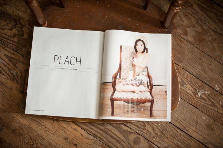 Inked Girls Magazine:  Peach