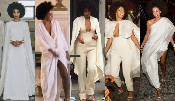 All 5 of Solange Knowles' Wedding Day Looks—Which Is Your Favorite? Vote Now!  Solange Knowles, Wedding