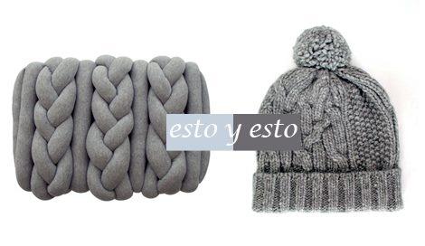 Taburete gris / EbanoDeco . Gorro de lana / Dolce & Gabbana