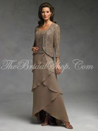 discount two piece mother of the bride dresses tea length