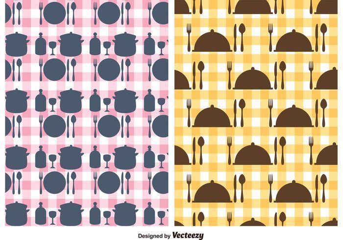 Free vector Free Kitchen Utensils Vector Pattern #18264