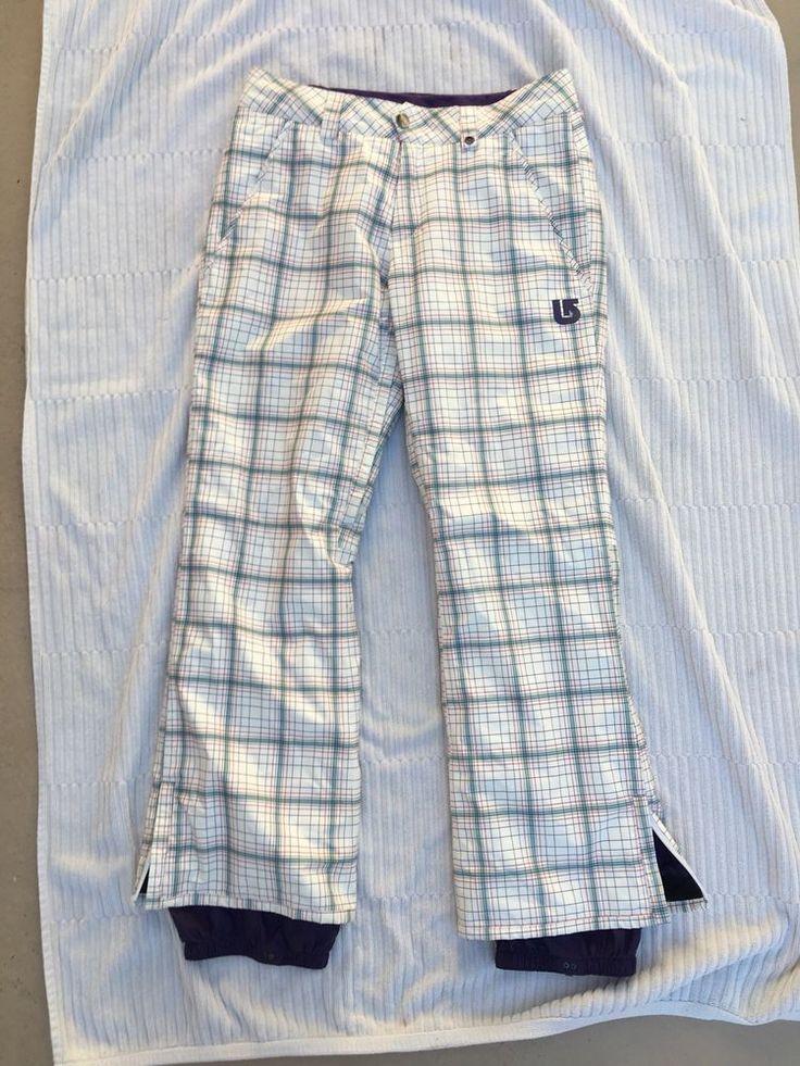 Burton Snowboard Pants Cool Flavors Dryride Plaid White Purple Blue Sz S  | eBay