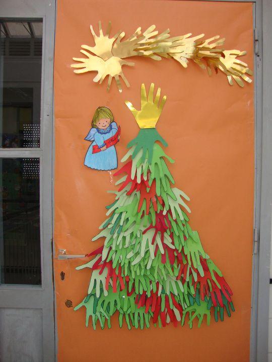 17 mejores ideas sobre puertas decoradas de navidad en - Puertas de madera decoradas ...