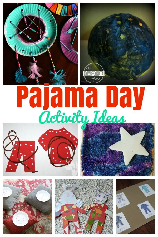 Pajama Day kids activities - These are so much fun for preschool, kindergarten, and homeschool age kids to have a fun school day. Perfect for Festival of Sleep Day on January 3rd. (kids activities)