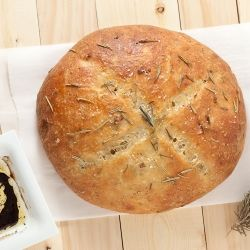Here is the Best Rosemary Garlic Bread ever!  Rustic and delish.  Better than restaurant loaves.  No bread machine needed.