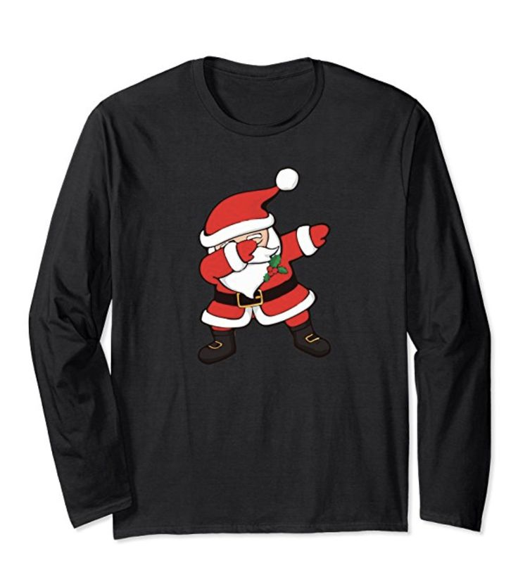 Holiday Sweater Idea Featuring Dabbing Santa Claus. Great for Holiday Parties, Christmas Day and Relaxing with family. Ge ti today!