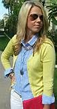 """""""hot pink cardigan blue gingham shirt - Yahoo Image Search Results"""