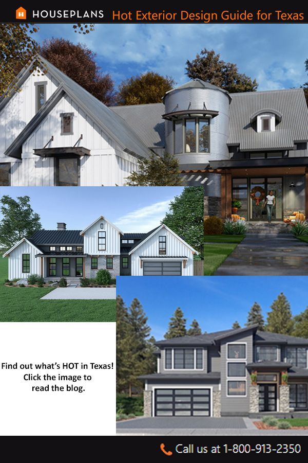 Hot Exterior Design Guide For Texas Home Builders Modern Farmhouse Plans Modern House Facades Modern House Plans