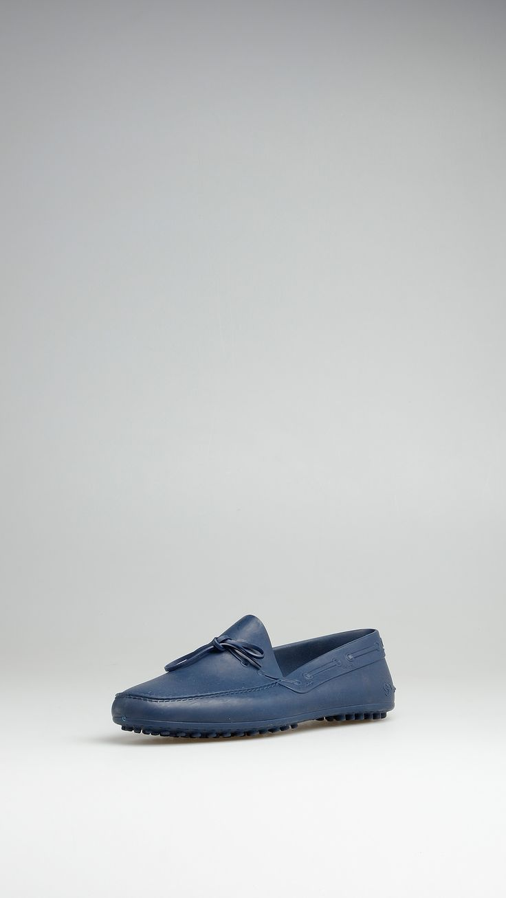 Shudy Blue TPU rubber loafers, leather insole, rubber studs. Size 44.