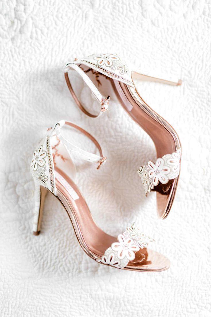 A Coral Garden Wedding For Summer Sparkly Wedding Shoes Bridal