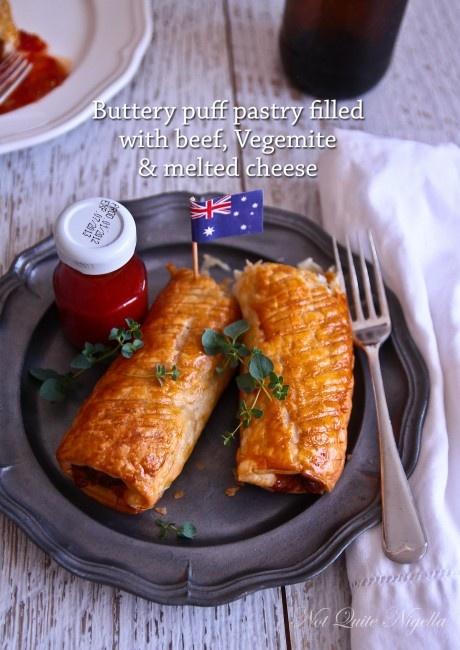 cheese vegemite sausage rolls