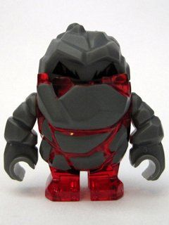 Rock Monster Meltrox (Trans-Red) – LEGO Power Miners 1 3/8″ Figure